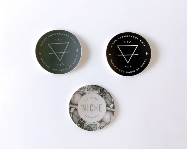 niche worship earth and rose stickers